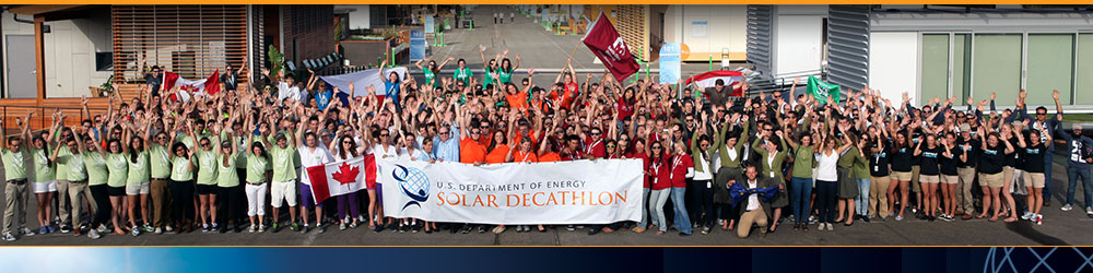 Solar Decathalon team photo banner teams